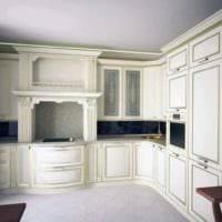 вариант светлого дизайна кухни в классическом стиле фото
