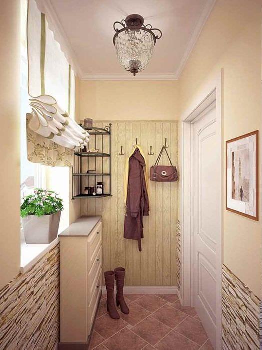 идея необычного дизайна прихожей в частном доме