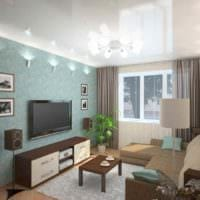 вариант яркого декора комнаты 12 кв.м фото