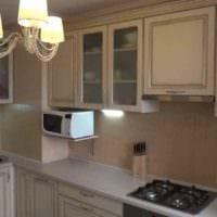 идея светлого стиля кухни 11 кв.м фото