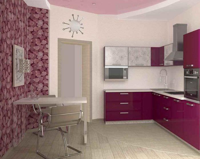 пример необычного стиля кухни 11 кв.м