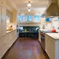 идея красивого интерьера кухни 13 кв.м фото
