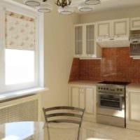 идея необычного дизайна кухни в классическом стиле фото
