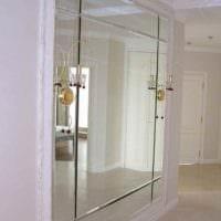 пример красивого дизайна прихожей с зеркалами картинка