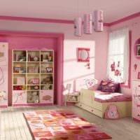идея необычного декора детской комнаты для девочки фото
