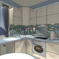 идея красивого интерьера кухни 11 кв.м фото