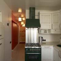 пример светлого интерьера кухни 12 кв.м фото
