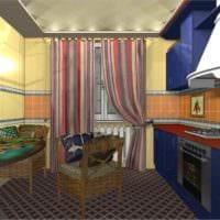 пример светлого декора кухни 13 кв.м картинка
