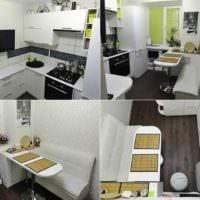 пример необычного дизайна кухни 7 кв.м фото