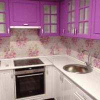 пример красивого дизайна кухни 13 кв.м фото