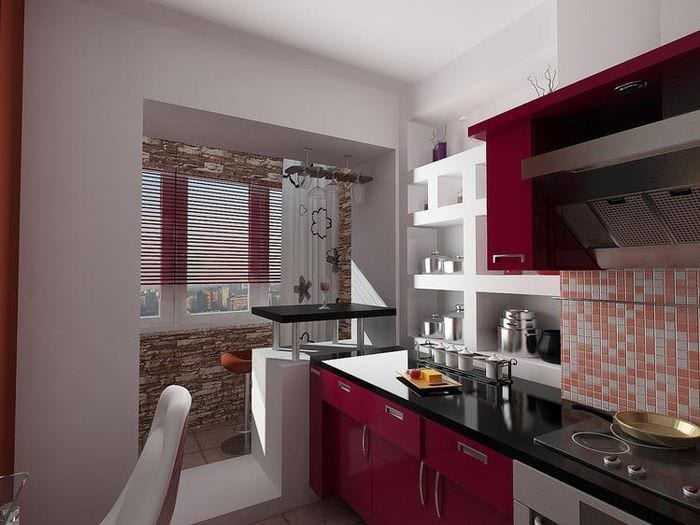 проем между кухней и балконом