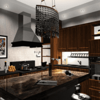 кухня 3 кв. метра черная