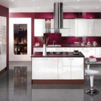 кухня 3 кв. метра бело вишневая