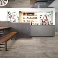серый ламинат в интерьере дизайн