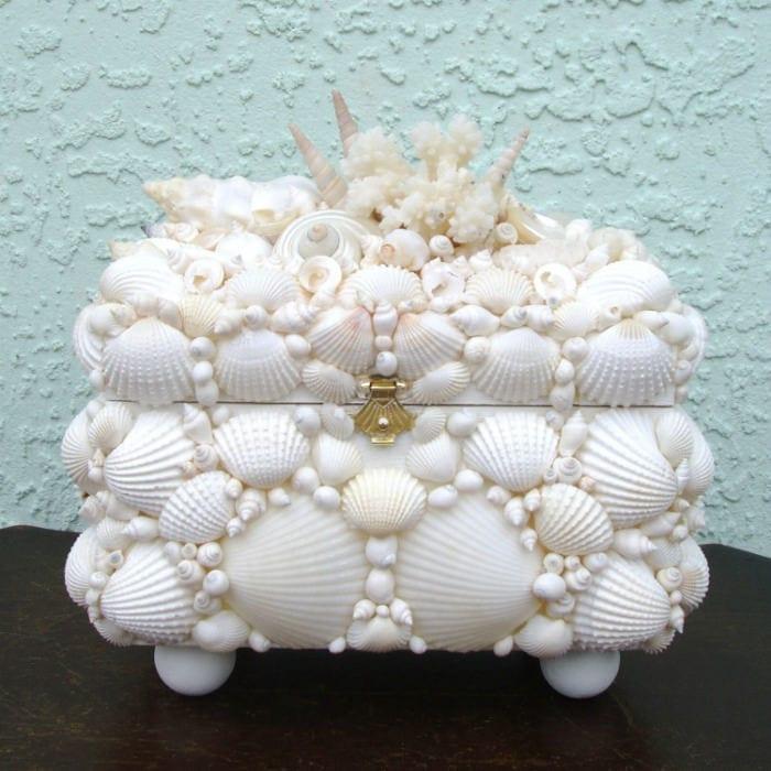 шкатулка из морских ракушек