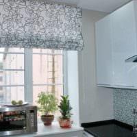 кухня 6 кв метров шторы