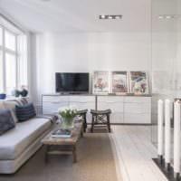 шведский интерьер и дизайн квартиры студии