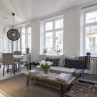 шведский дизайн квартиры студии