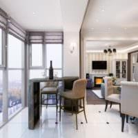кухня совмещенная с балконом современные идеи