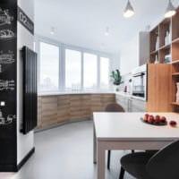 кухня совмещенная с балконом современный дизайн