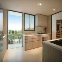 кухня совмещенная с балконом в доме