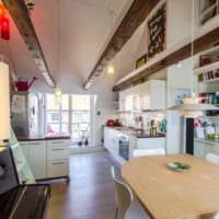 кухня совмещенная с балконом в интерьере
