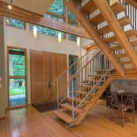 современный дизайн лестницы в доме