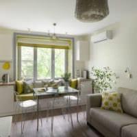 современный дизайн кухня совмещенная с балконом