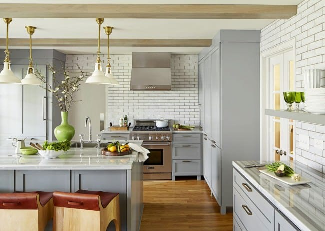 современный дизайн кухни студии