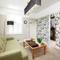современный дизайн маленького зала