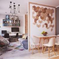 трендовый дизайн квартиры студии