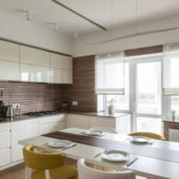 кухня совмещенная с балконом