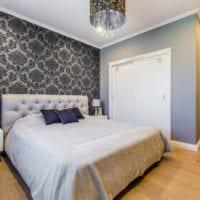 спальни с серыми обоями