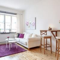 яркий дизайн квартиры студии