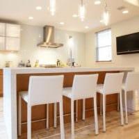 удобная барная стойка для кухни