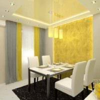 пример использования красивого желтого цвета в декоре комнаты фото