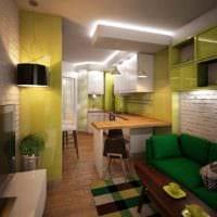идея светлого дизайна кухни 12 кв.м картинка