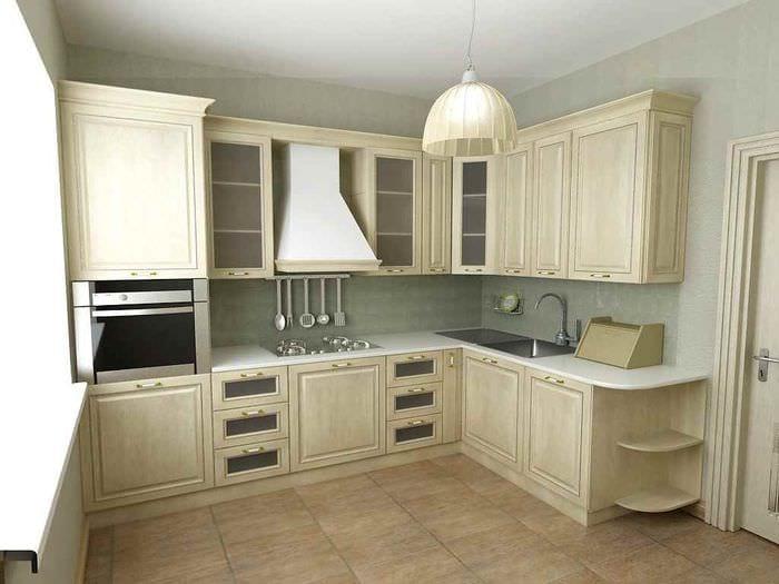 вариант красивого дизайна кухни 12 кв.м