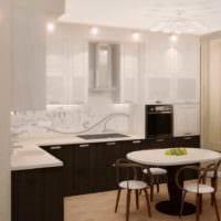 вариант красивого стиля кухни 7 кв.м фото