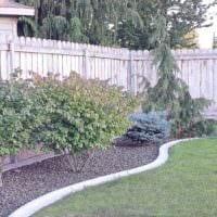 вариант яркого дизайна огорода в частном дворе картинка