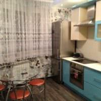 пример светлого декора кухни 10 кв.м. серии п 44 фото