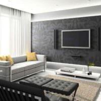 вариант красивого дизайна гостиной 15 кв.м картинка