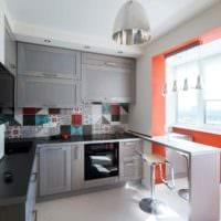 вариант необычного декора кухни 11 кв.м фото