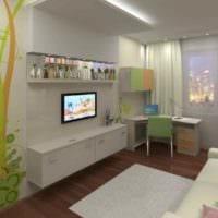 вариант красивого дизайна комнаты 12 кв.м картинка