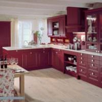идея красивого декора кухни в классическом стиле картинка