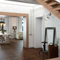 идея светлого декора кухни в загородном доме картинка