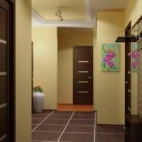 идея красивого интерьера прихожей в частном доме картинка