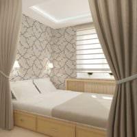 идея красивого стиля гостиной спальни фото