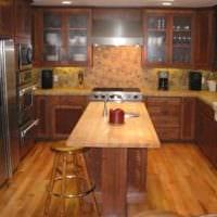 вариант светлого интерьера кухни 13 кв.м картинка