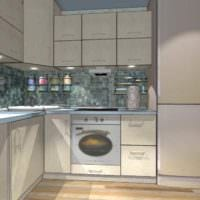 пример красивого интерьера кухни 7 кв.м фото